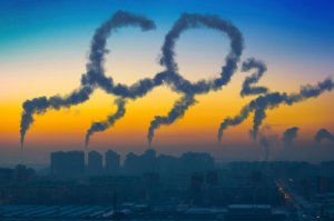 Co2 emissions in sky